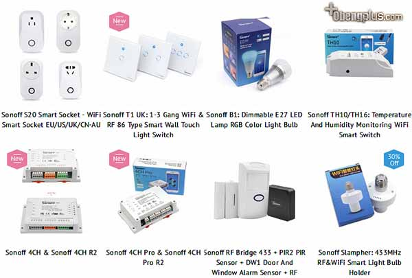 Sonoff product series smart switch