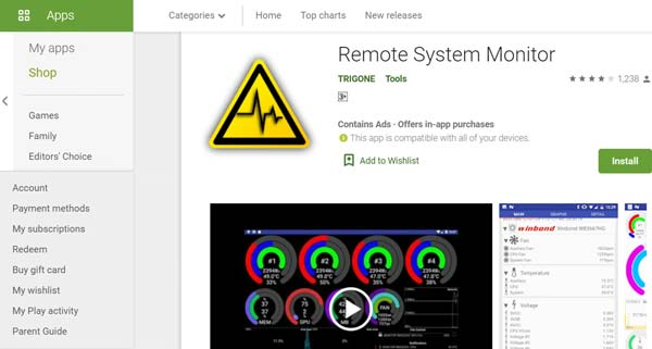 Download Remote System Monitor Android from Google Play