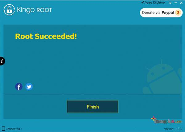 Jalankan program Kingo Root
