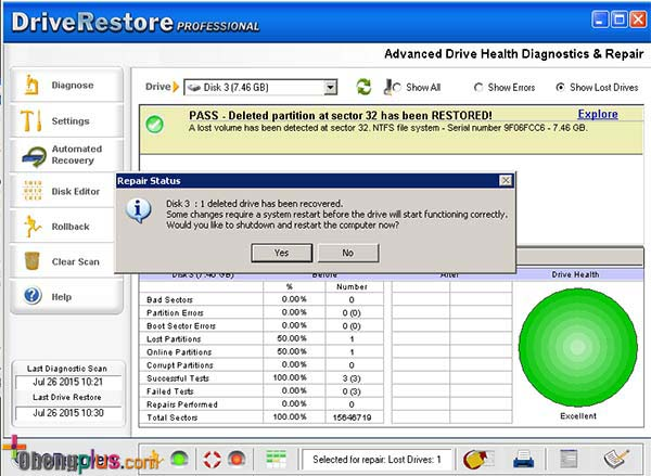 Recover Partition harddisk