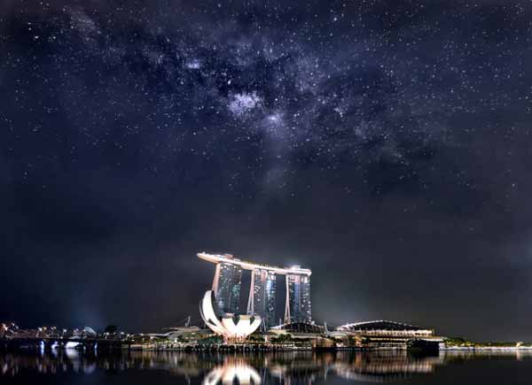 Foto Justin Eng Milky way Singapore