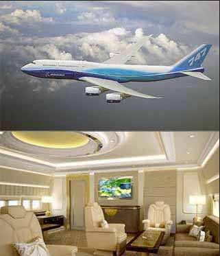 a private Boeing 747 jet, like Hong Kong real estate tycoon Joseph Lau