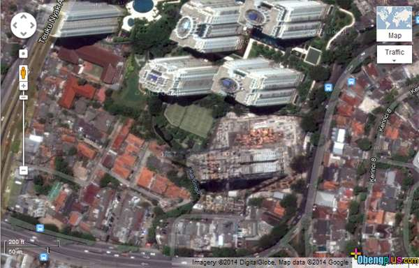 foto satelit Google Maps Januari 2014