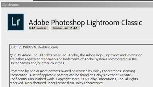 Lightroom CC Classic 8 edisi September 2019