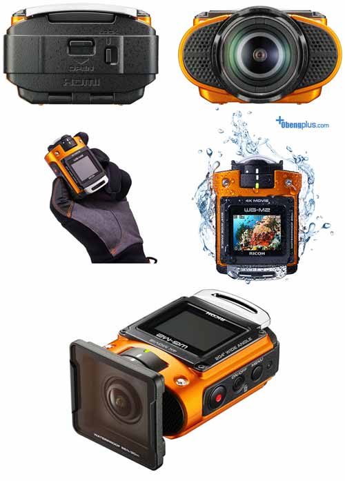 Ricoh WG-M2 action cam camera rekam 4K video tahan air tanpa case