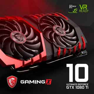MSI Gaming X Nvidia GTX 1080Ti March 2017