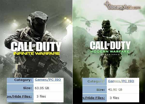 Call of Duty Infinite dan COD Modern Warfare Remastered Torrent