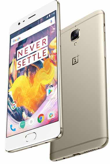 Oneplus 3T Soft Gold Color Snapdragon 821 camera depan dan belakang 16Mpix