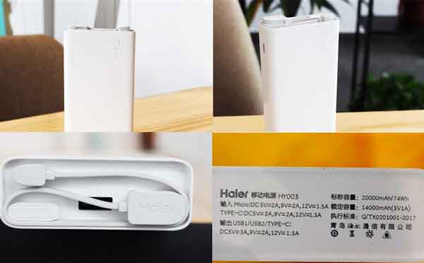 Powerbank Haier 2 way fast charging 20000mAh