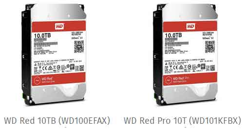 Harddisk WD REd dan WD Red Pro 10TB NAS