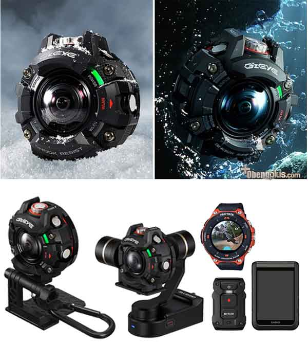 Action Cam Casio GZE-1 camera bentuk bulat