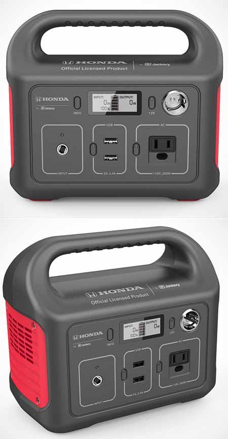 Powerbank portabel output AC DC Jackery Honda HLS290 Portable Power Station Charges