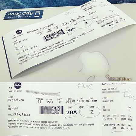 Edit tiket boarding pass airlines