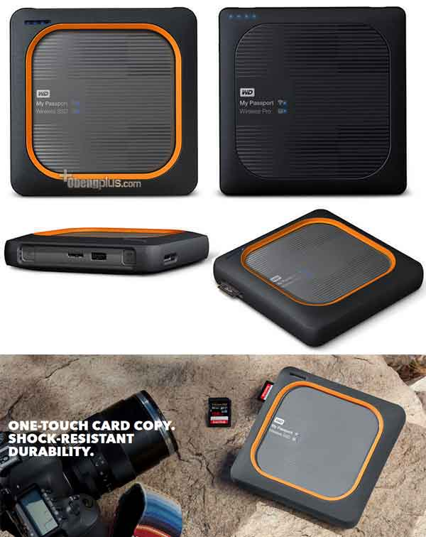 Alat backup memory card USB ke storage harddisk dan SSD - WD My Passport Wireless SSD