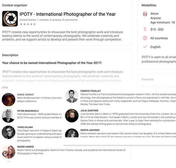 Penipuan kompetisi foto IPOTY International Photographer of the Year  cuma tipu tipu
