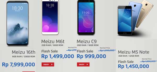 jd.id promo smartphone Android Meizu