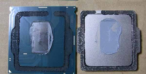 Intel Core i5 9400F dengan thermal paste