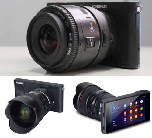 Yongnuo YN450  bodi camera rekam video 4K 30 fps dengan lensa Canon