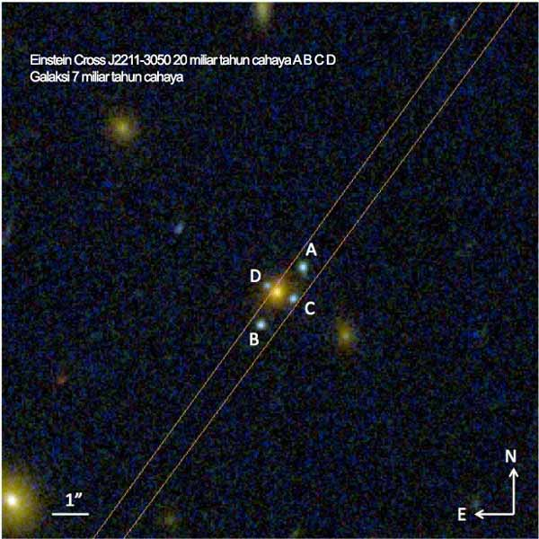 Einstein Cross J2211-3050