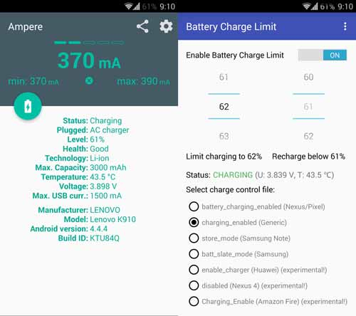Battery Charge Limit menururnkan power charger ketika level baterai tercapai