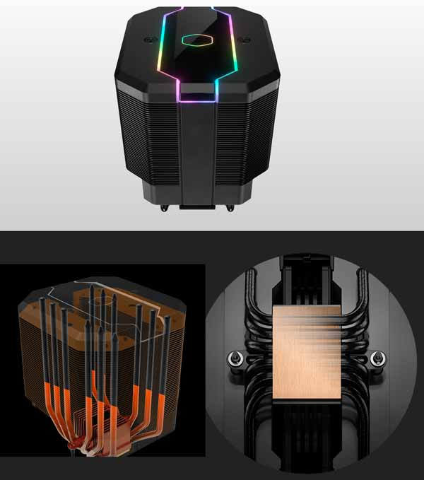 Cooler Master MasterAir MA620M dual tower cooler 6 heatpipe silent fan AMD Intel