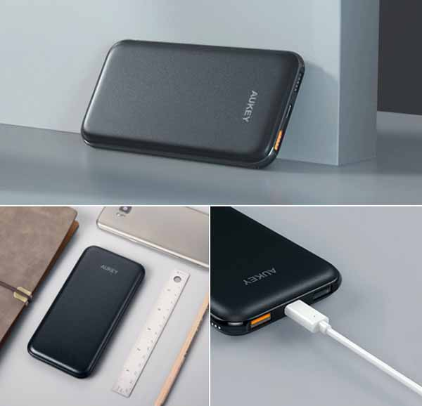Powerbank Aukey Power Delivery 10000mAh Quick Charger 3.0 mengisi 18W lebih cepat
