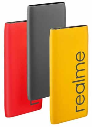 Powerbank Realme 10000mAh 2 output full charger 3 jam
