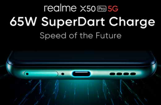Quick Charger SuperDart adaptor Realme power 65W ke smartphone
