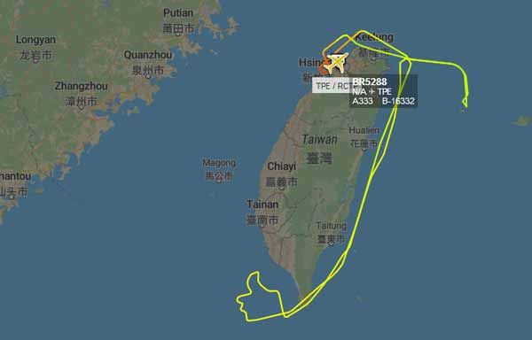 EVA Air flight to nowhere